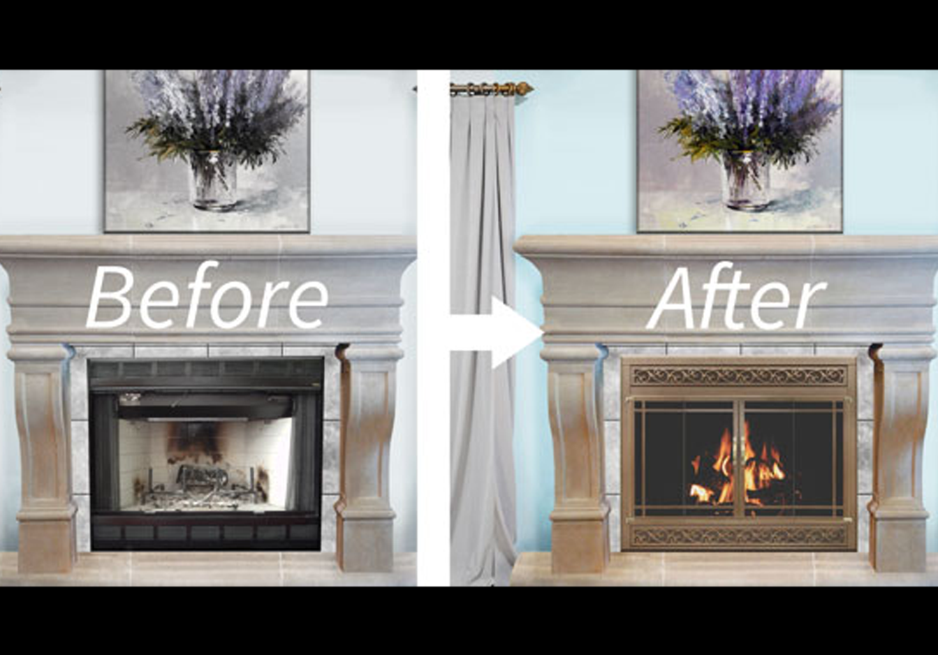 Refacing a prefab fireplace