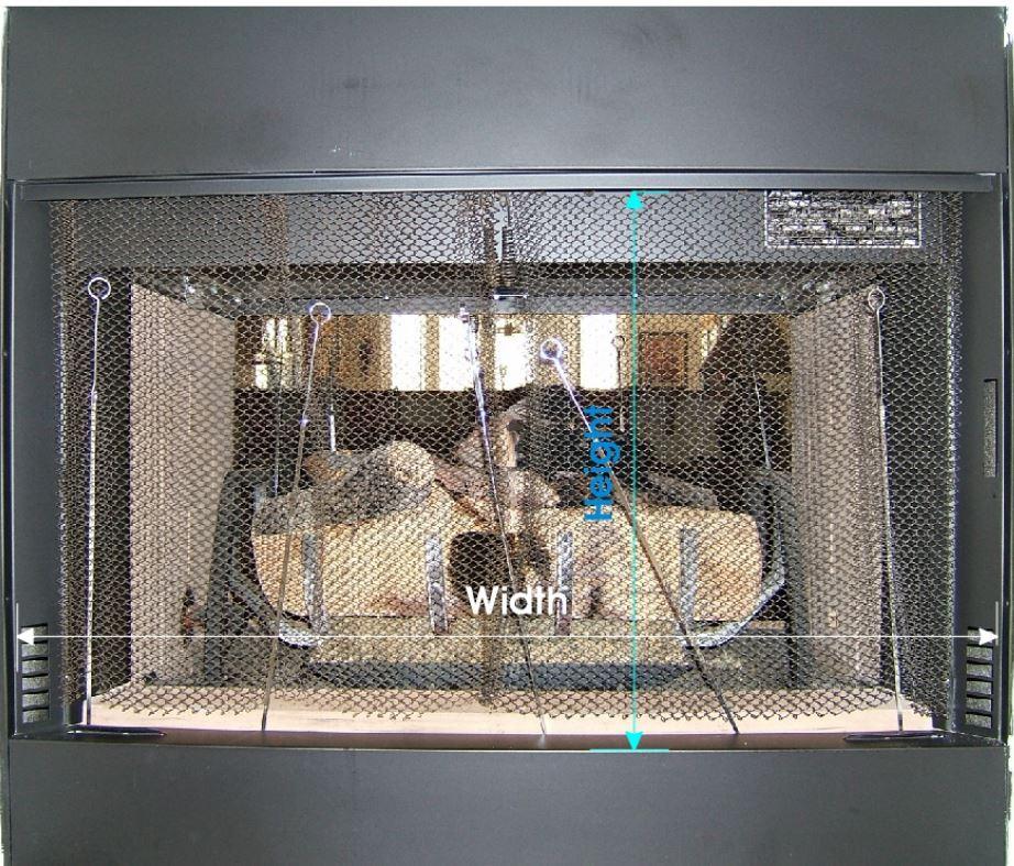 Measuring for Prefab Fireplace Door Example 1