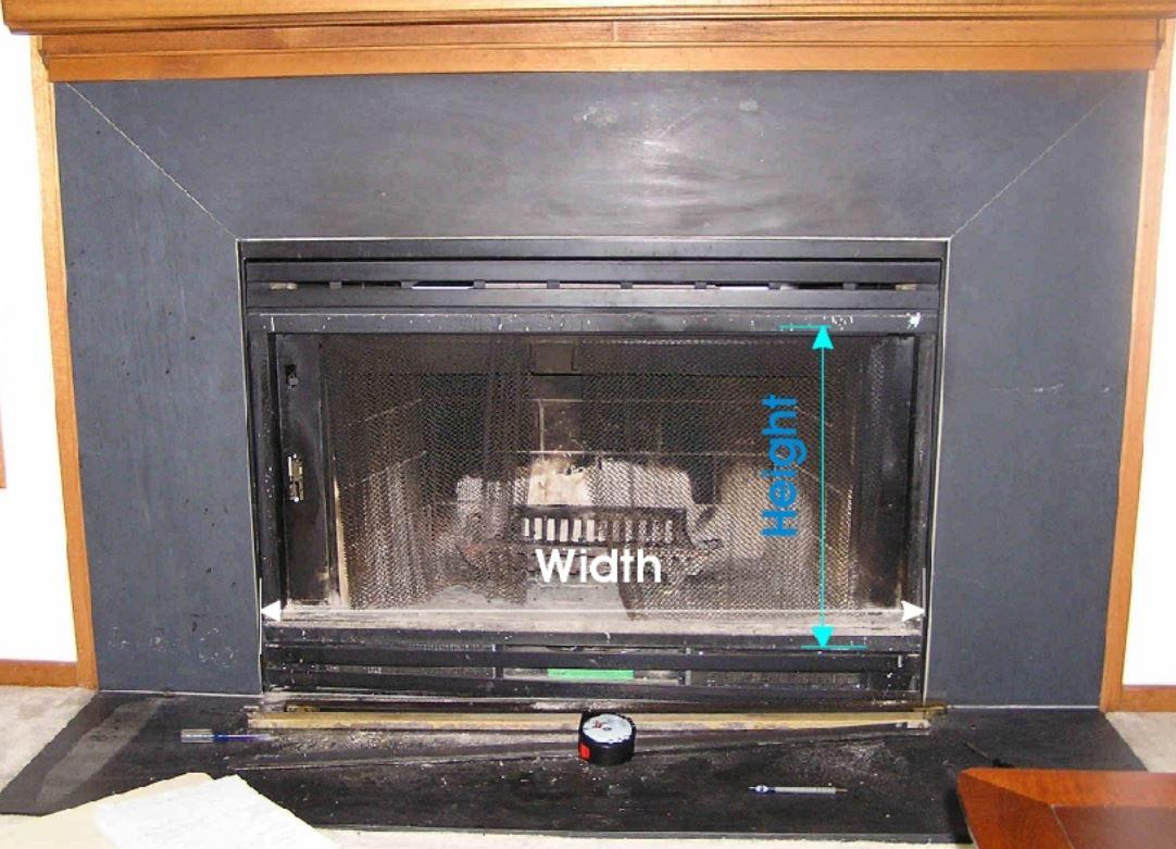 Measuring for Prefab Fireplace Door Example 2