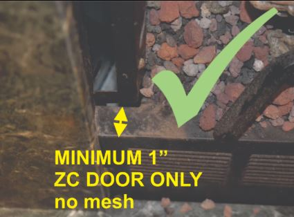 "1"" Minimum Return Space - Door and Mesh Screen Will NOT Work"