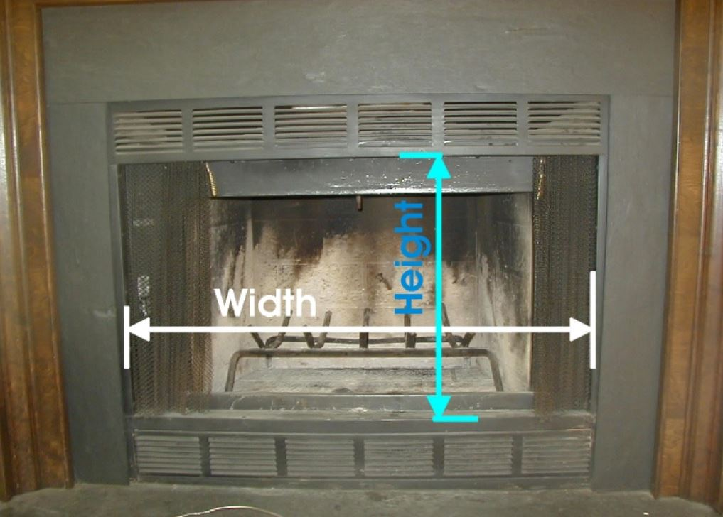 Measure Width and Height of your Prefab Fireplace