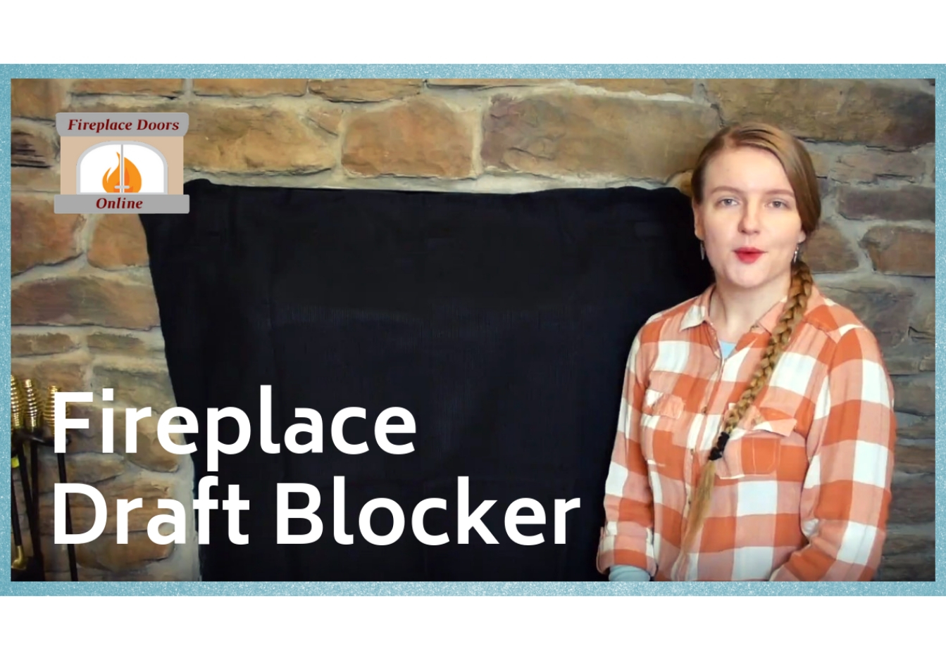 Energy Saving Fireplace Draft Blocker