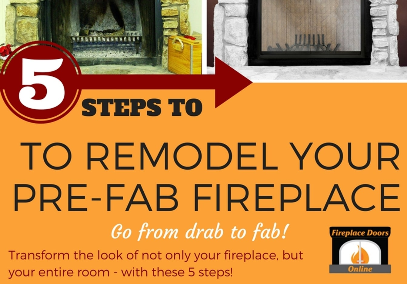 5 Steps To Remodeling A Pre-Fab Fireplace