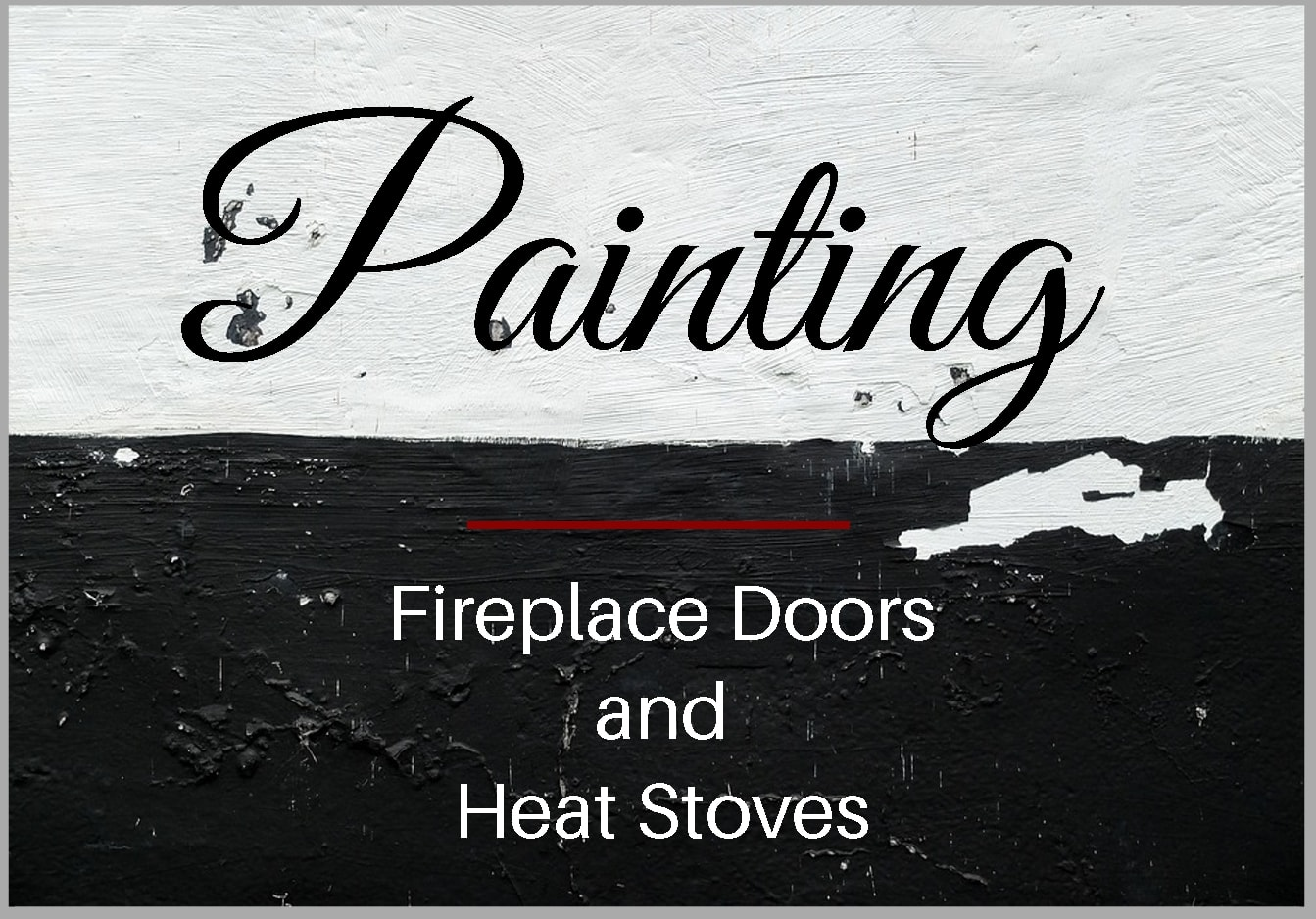 How to paint fireplace doors and wood stoves