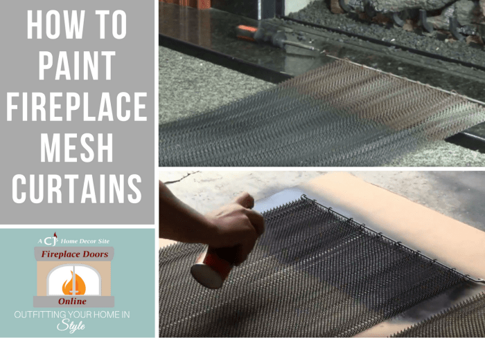 How To Paint Fireplace Mesh Curtains
