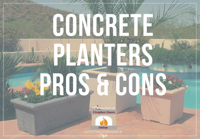 Concrete Planters Pros & Cons