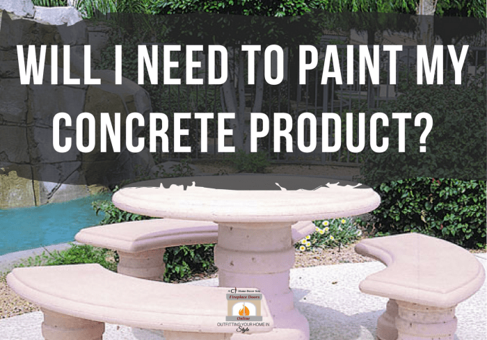 Painting Concrete Products