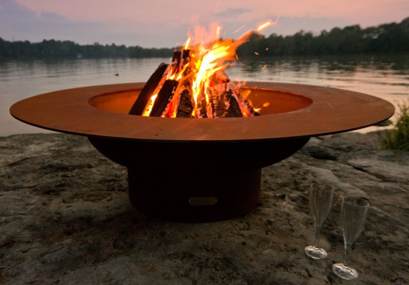 Installing A Log Lighter In A Wood Burning Fire Pit