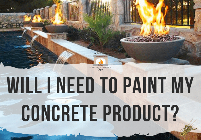 Painting Concrete Fire Features