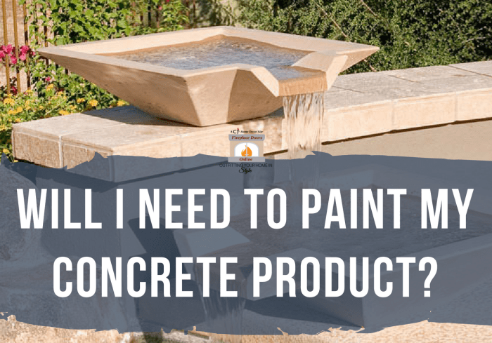 Painting Concrete Water Features
