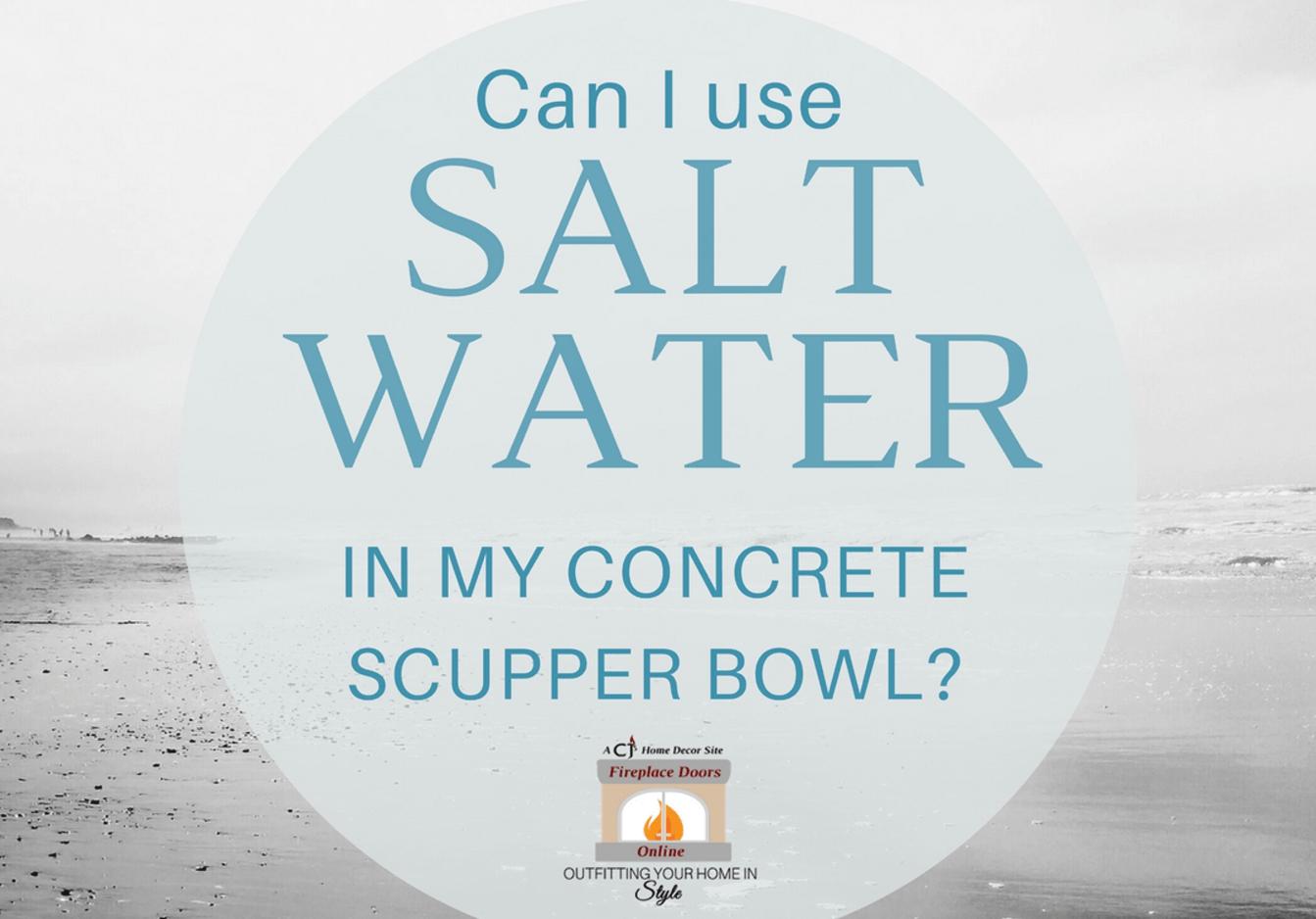 Salt Water in Concrete Bowls