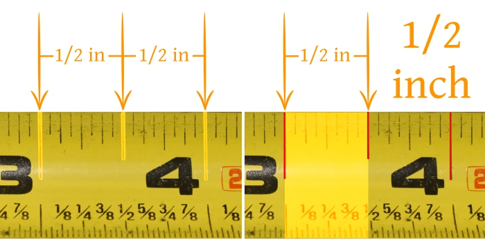 Tape Measure Half Inch