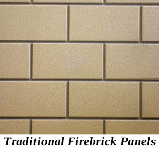 Traditional firebrick panels for Castlewood 42 inch outdoor wood burning fireplace