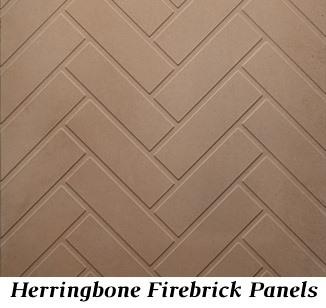 Brown Herringbone refractory panels