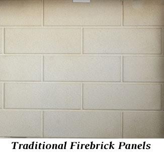 Traditional Grey Brick refractory panels