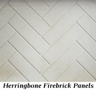 Herringbone refractory panels