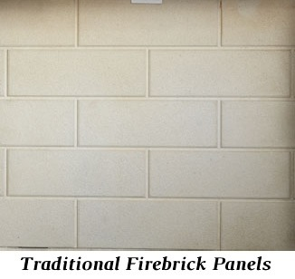Traditional refractory panels