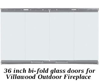 36 inch bi-fold glass doors for Villawood Outdoor Fireplace