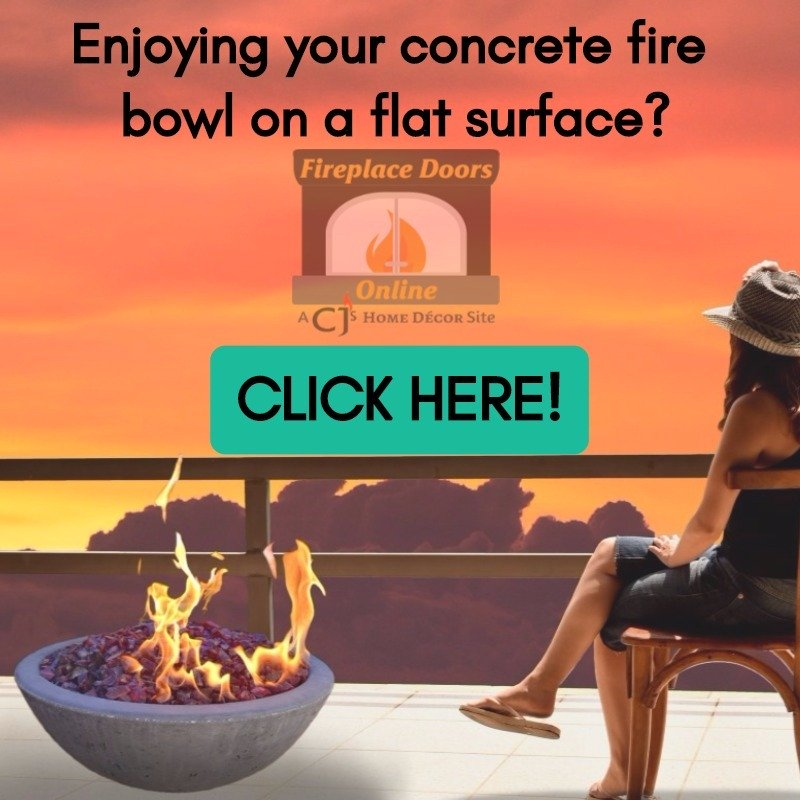 Flat Surface Concrete Propane Fire Bowl Mount
