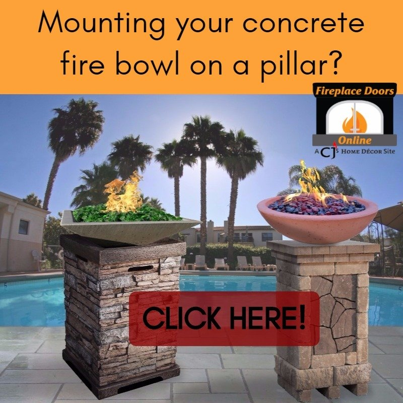 How to mount your concrete propane fire bowl on a pillar