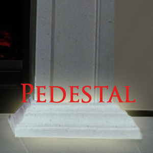 Pedestal Base For Cast Stone Fireplace Mantels