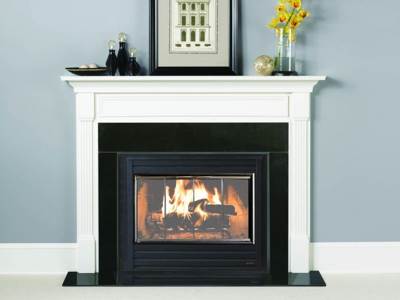 This beautiful modern fireplace door is an inside fit and ideal for anyone who wants an understated fireplace door.