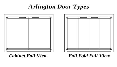 Door types for the Arlington zero clearance fireplace door