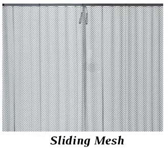 Sliding mesh spark protection