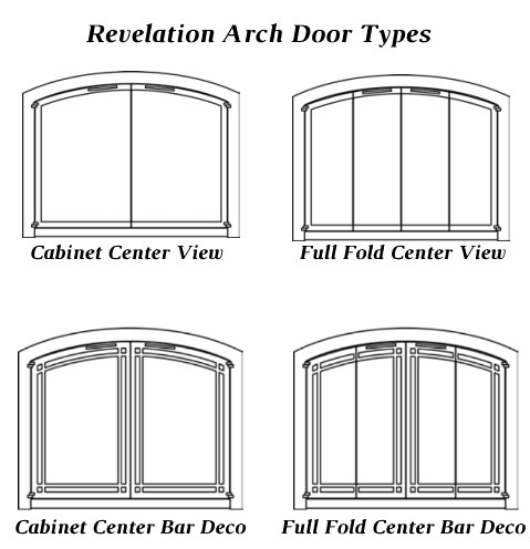Door types for Revelation Arched masonry fireplace door