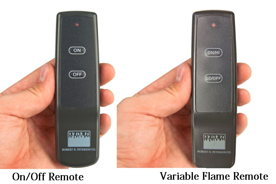 On/Off Remote and Variable Flame Height Remote control options