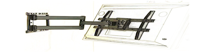 Adjustable flat screen tv mounting system.