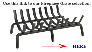 A fireplace grate link