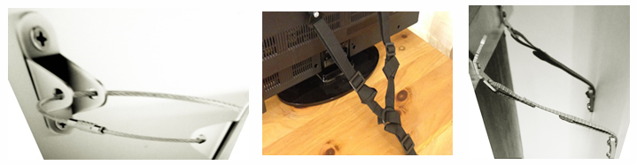 Reference mix image of tv mounting gear.