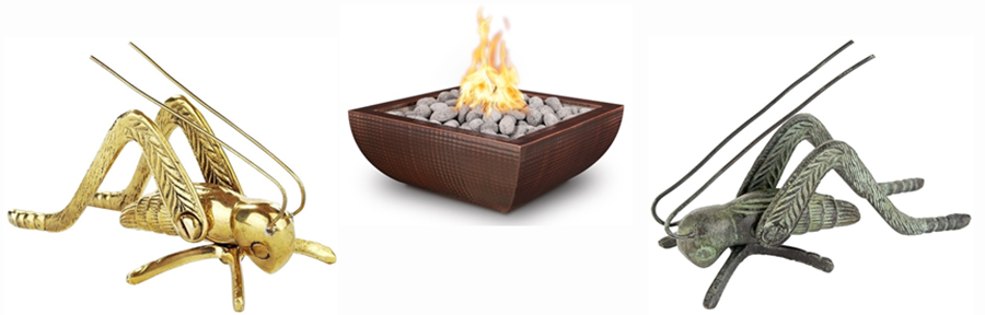 An image link to hearth products including decorative crickets