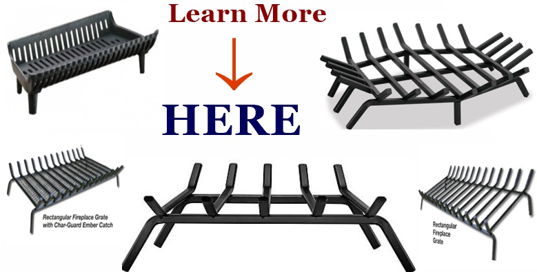 Mix image of fireplace grates for link reference