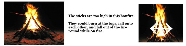 Bonfire safety reference image.