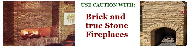 Full brick and full stone mix image of fireplaces.