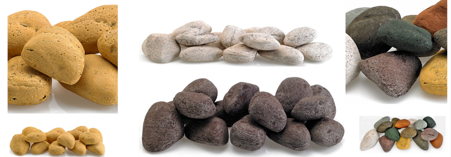 Ceramic Fire Stones for fire bowls, fire pits, and fire pits reference image and image link.