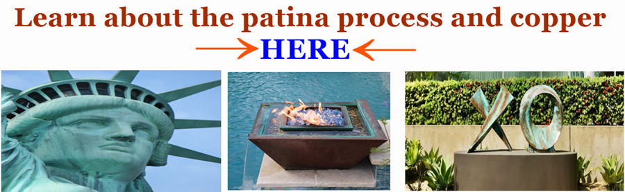 A reference and image link to learn about the patina process on copper