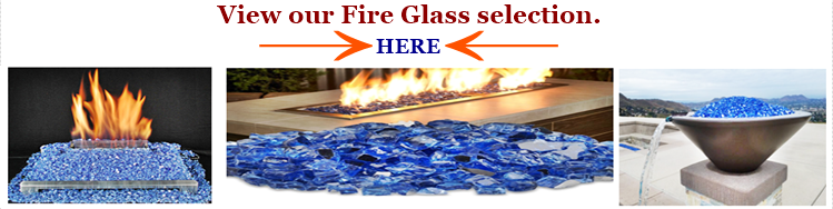 A mix of blue fire pit glass reference image and image link.