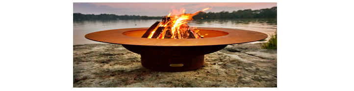 Fire Pit Art large open fire pit reference image.