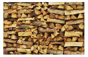 Firewood season stacks.
