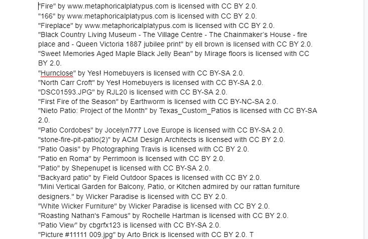 Image credits list.
