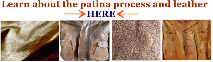 A reference and image link to learn more about the leather patina process