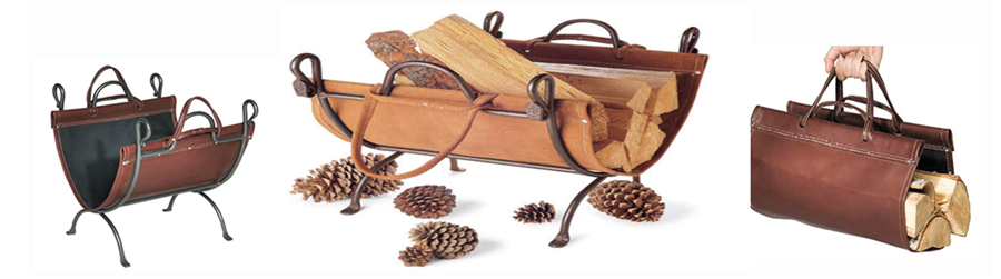 An image link to our leather products of wood holders and wood gloves