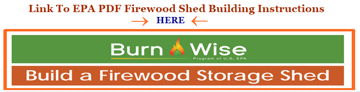 Image link to EPA's PDF for how to build a firewood shed.