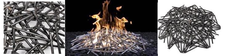 Milled Steel Nest Fire Pit Burner reference image and image link.