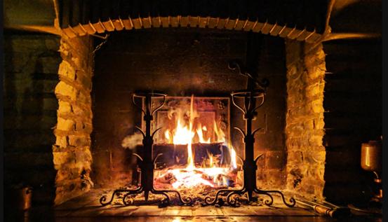 neat fireplace firebox image