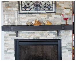 Image link to our fireplace mantel.