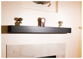 Image link to our fireplace shelf.